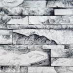 Сланец Карпатский белый мрамор АРТ 1400М