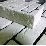 0300У_Угловой элемент кирпич шамотный белый декоративный камень_полинка_POLINKA.BY