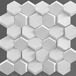 С1_3D_панель_3Д_Соты_белый_500*500_декоративный камень_полинка_POLINKA.BY