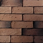0304_кирпич шамотный коричневый_декоративный камень_полинка_POLINKA.BY